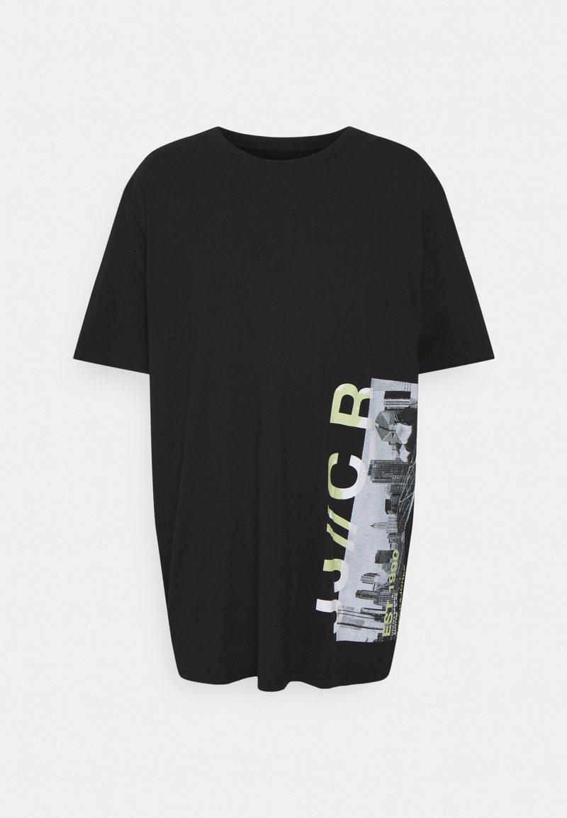 Jack & Jones - JCOWALK TEE CREW NECK - Print T-shirt - black