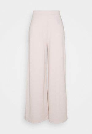 ONLLAYLA WIDE PANTS - Trousers - pumice stone