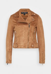 Miss Selfridge - BIKER - Faux leather jacket - tan - 4