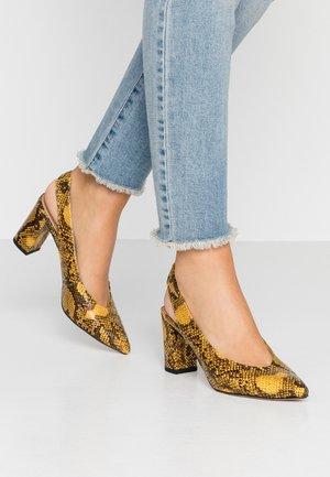 EVERLEY - Classic heels - sunshine yellow
