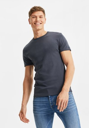 WE FASHION HEREN ORGANIC COTTON T-SHIRT - T-paita - navy blue