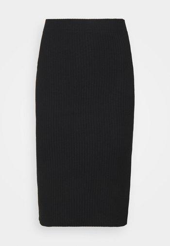 ONLNELLA SLIT SKIRT - Pencil skirt - black