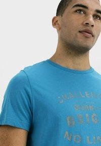 camel active - Print T-shirt - ocean blue - 3