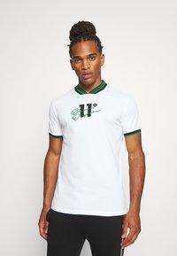 11 DEGREES - BASEBALL COLLAR - T-shirt print - white - 0
