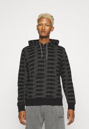 ALLOVER LOGO HOODIE - Sweatshirt - black