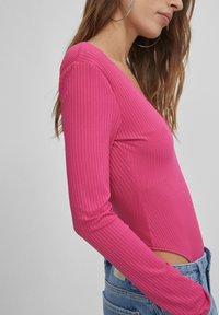 Bershka - Top sdlouhým rukávem - neon pink - 3