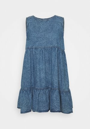 SLEEVELESS SMOCK DRESS - Dongerikjole - blue
