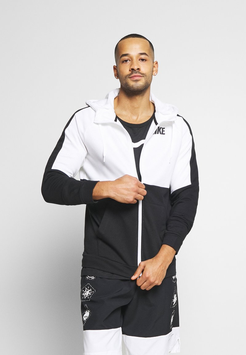 Nike Performance - DRY  - veste en sweat zippée - white/black
