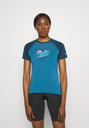 HEARTZ TEE - Print T-shirt - blue steel/french navy