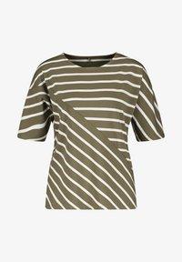 Gerry Weber - MIT RINGELMIX - Long sleeved top - grün/ecru/weiss ringel - 3