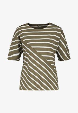 MIT RINGELMIX - Long sleeved top - grün/ecru/weiss ringel