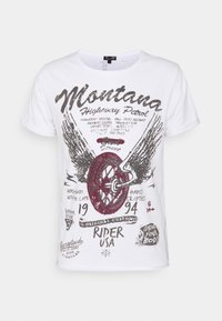 Key Largo - TIRES ROUND - Print T-shirt - white - 4