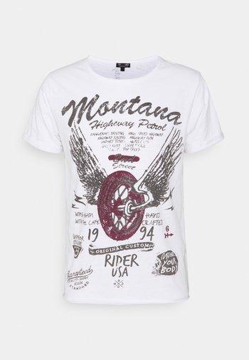 TIRES ROUND - T-shirt med print - white