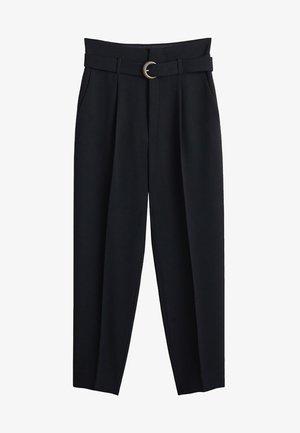 MANUEL - Trousers - schwarz