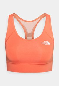 The North Face - BOUNCE BE GONE BRA - Medium support sports bra - emberglow orange/white - 0