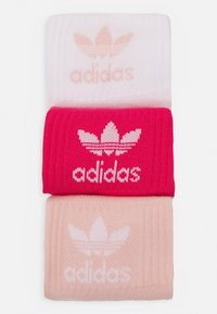 adidas Originals - MID CUT UNISEX 3 PACK - Chaussettes - white/pink/light pink - 1