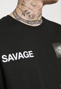 YOURTURN - UNISEX - T-shirt con stampa - black - 4