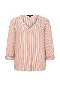 comma - MIT MUSTER - Blouse - cognac pinstripes - 2