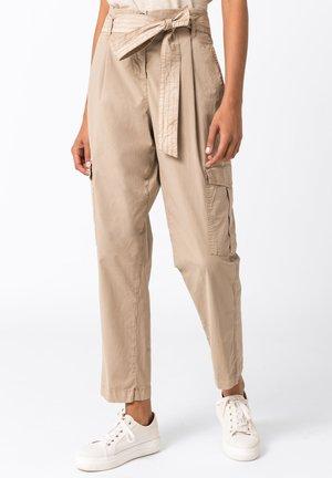 Cargo trousers - hellbeige