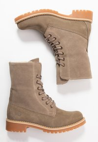 Tamaris - Boots - Lace-up ankle boots - taupe - 3