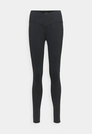 WAIST HIGH WAIST SHINE PANEL - Leggings - black