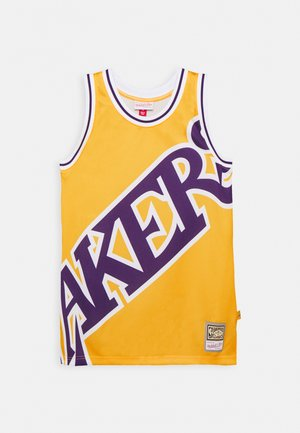 NBA LOS ANGELES LAKERS BIG FACE BLOWN OUT FASHION - Klubbkläder - yellow