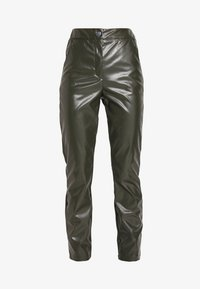 Missguided Tall - PLEAT FRONT CIGARETTE TROUSERS - Bukser - deep green - 4