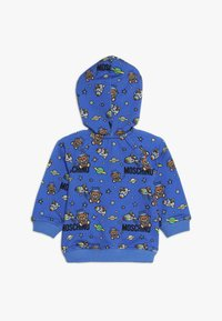 MOSCHINO - HOODED - Kapuzenpullover - bluette toy space - 1