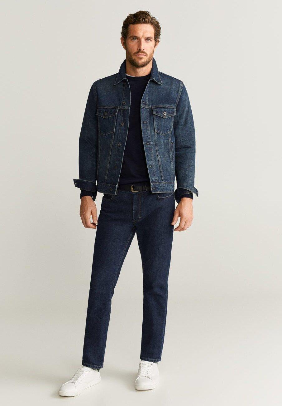 Mango Ryan - Jeansjakke Blue