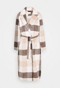 VILALAS JACKET - Zimní kabát - beige/white