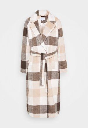 VILALAS JACKET - Classic coat - beige/white
