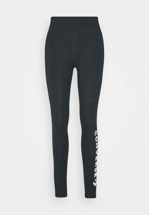 HIGH WAISTED WORDMARK LEGGING - Leggings - Trousers - black