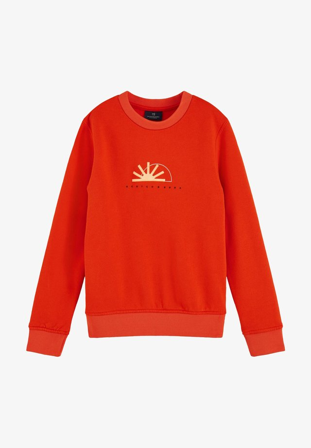 Sweatshirt - orange shell