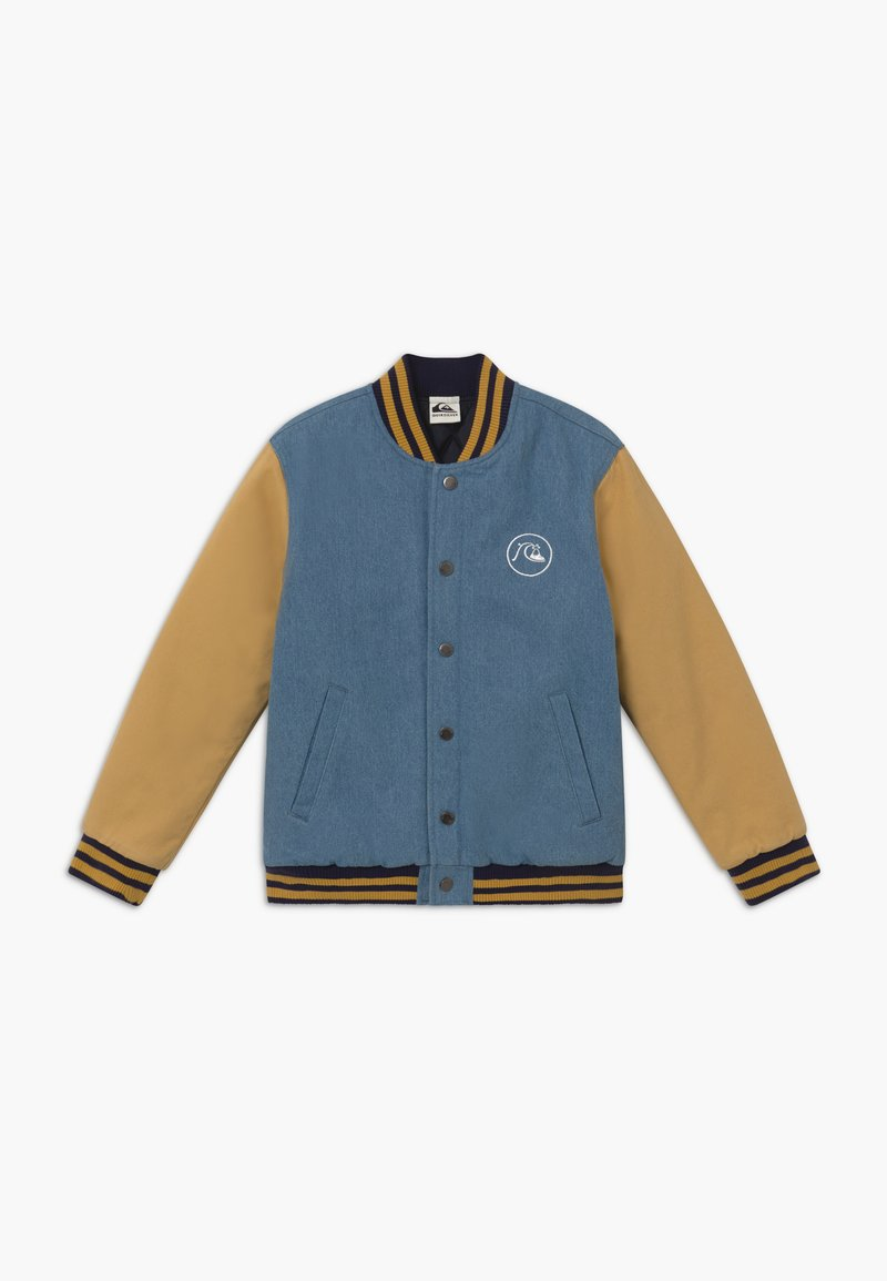 Quiksilver - RADICALS LOG - Giacca invernale - light blue/mustard yellow