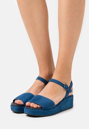 MISIA - Platform sandals - blue