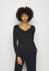 Tommy Hilfiger - REGULAR CLASSIC - Long sleeved top - black - 0