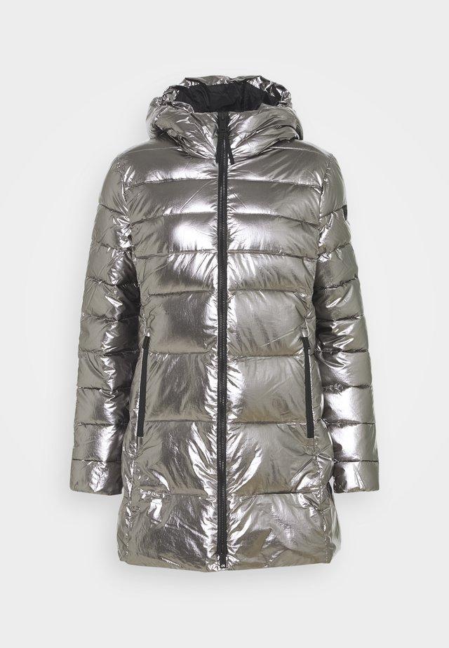 WOMAN FIX HOOD - Zimní kabát - acciaio