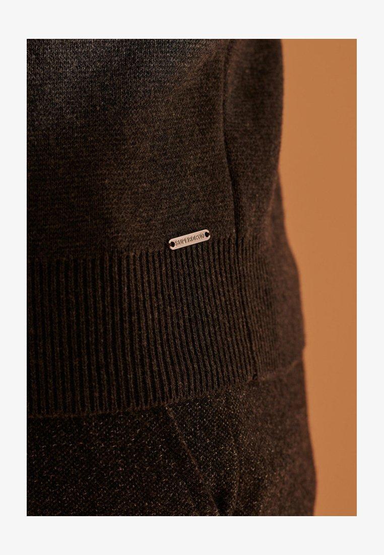 Superdry ORANGE LABEL - Strickpullover - flannel grey/dunkelgrau ETnk38