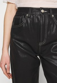 Topshop - COATED RUNWAY - Relaxed fit jeans - black - 3