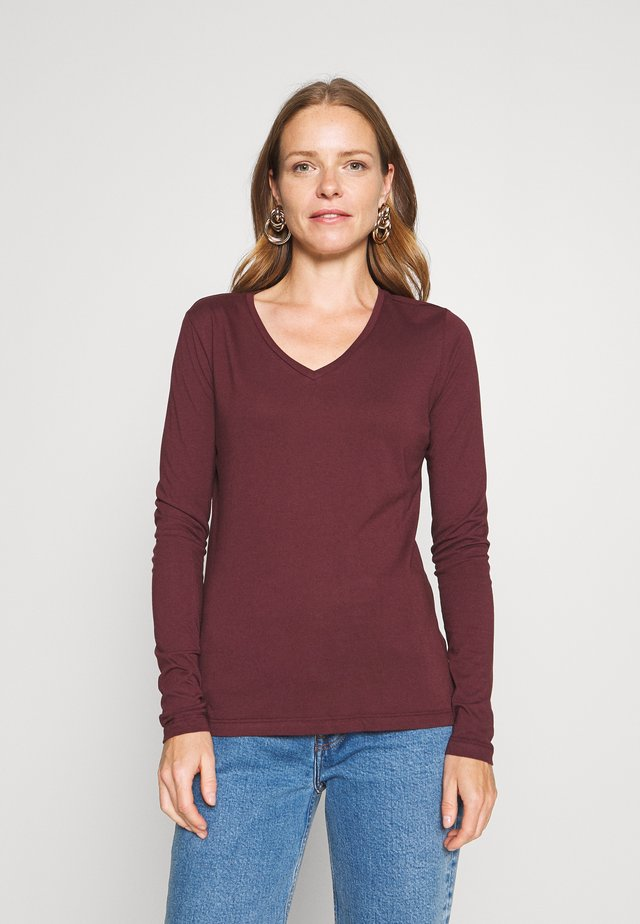 NAIA LONG SLEEVE  - Maglietta a manica lunga - decadent chocolate
