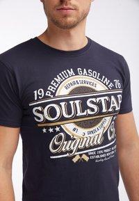 SOULSTAR - Print T-shirt - marine - 3
