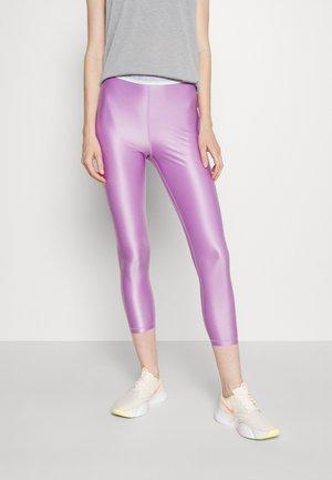 Tights - violet shock/white