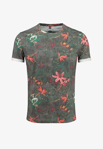 MT JUNGLES  - Print T-shirt - anthrazit