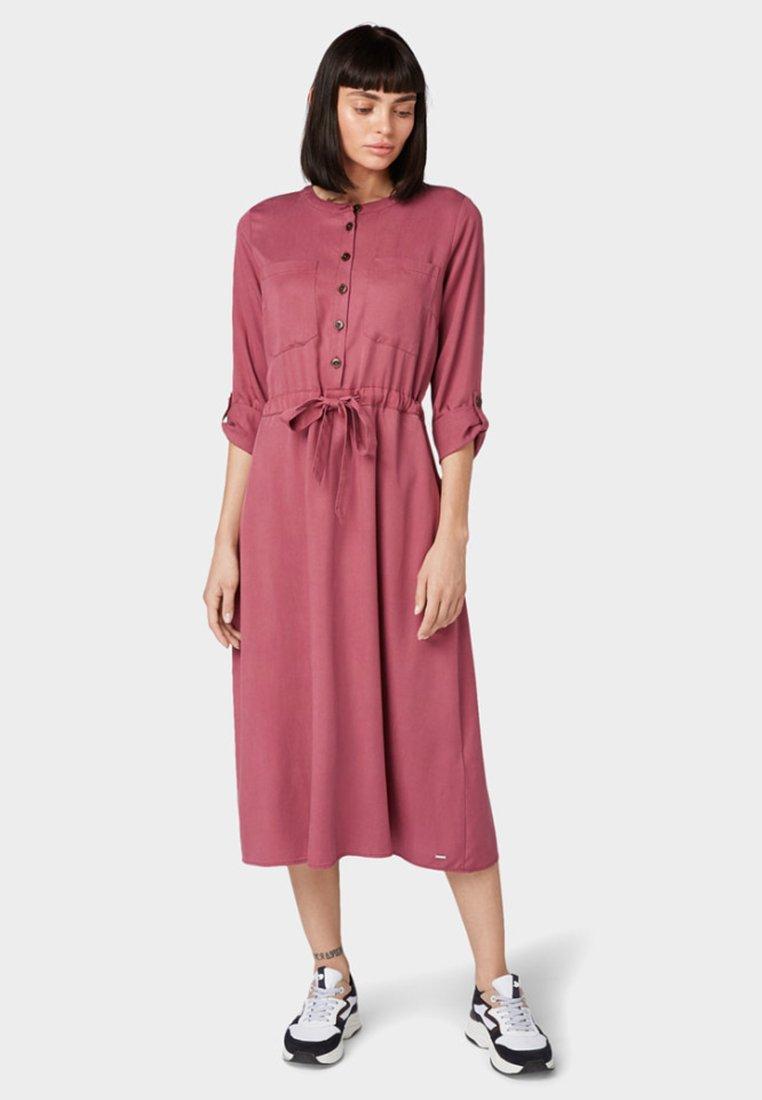 TOM TAILOR DENIM - Shirt dress - dry rose