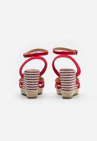 Kaporal - MONTY - High heeled sandals - rouge - 3
