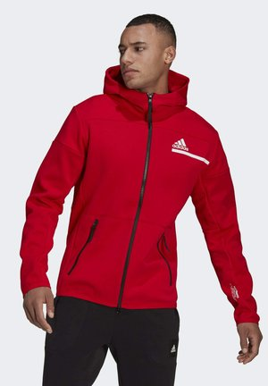 Z.N.E HOODIE PRIMEGREEN HOODED TRACK TOP - Huvtröja med dragkedja - red