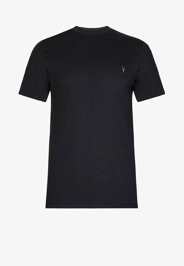 AllSaints BRACE - T-shirt basic - jet black/czarny Odzież Męska ZIOI