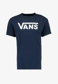 Print T-shirt - navy/white