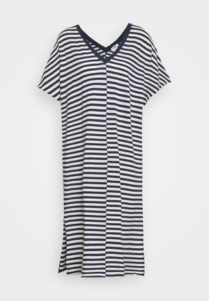 DROP DRESS - Strikket kjole - navy
