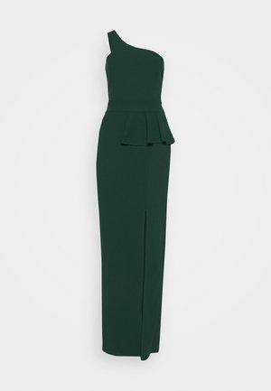 ONE SHOULDER DRESS - Suknia balowa - forest green